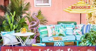 رنگ تابستانی برای چیدمان دکوراسیون