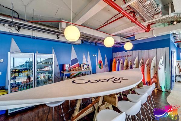طراحی دکوراسیون داخلی شرکت گوگل