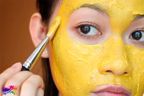 ماسک صورت ماست و زرد چوبه
