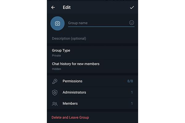 آموزش کامل تنظیمات گروه تلگرام