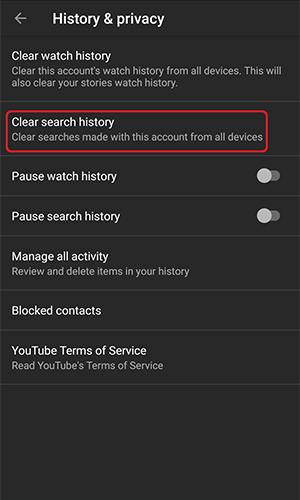 آموزش حذف کامل تاریخچه جستجو در یوتیوب