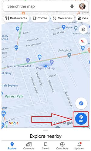 کشیدن مسیر در گوگل مپ