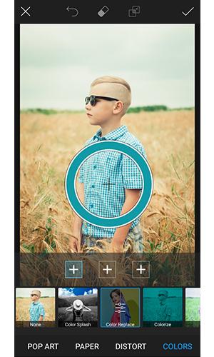 نرم افزار تغییر رنگ لباس در عکس برای اندروید