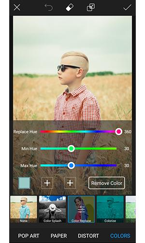 برنامه ای برای تغییر رنگ لباس در عکس