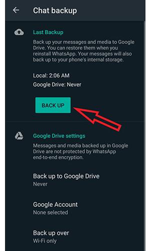 نحوه خروج از حساب کاربری واتساپ